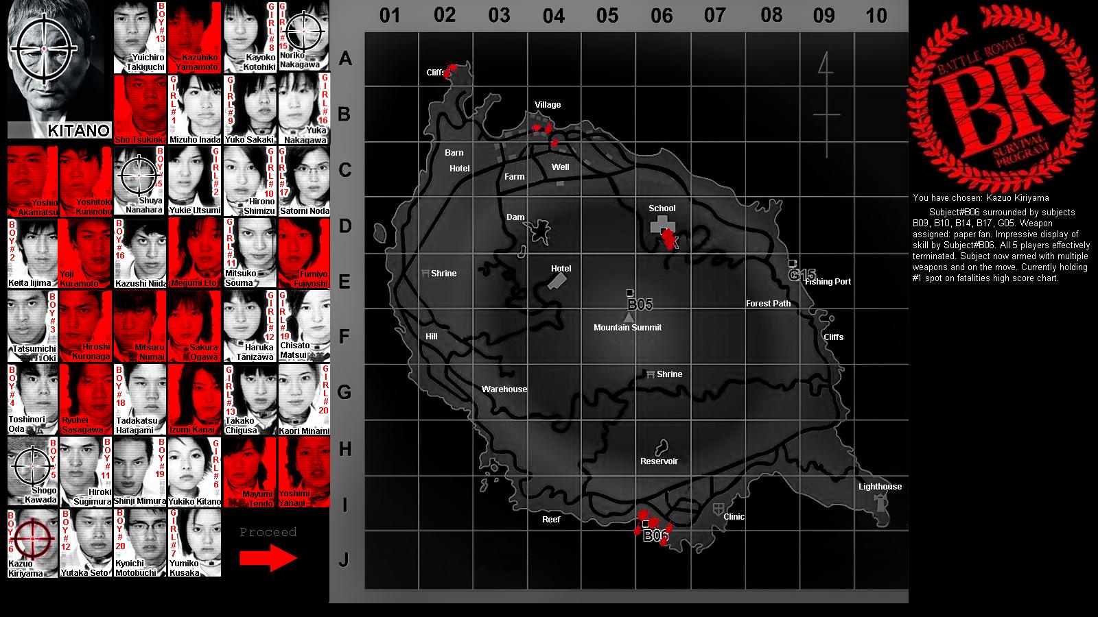 Battle Royale dark UI teaser